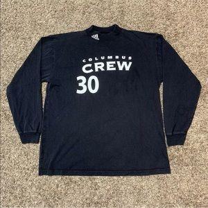 Adidas Mock Neck Shirt Columbus Crew #30 Thick L/S